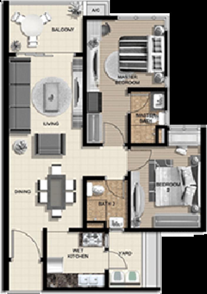 The Vyne Type A Floor Plan