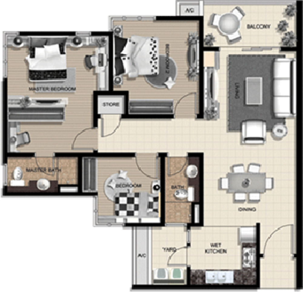 The Vyne Type B Floor Plan