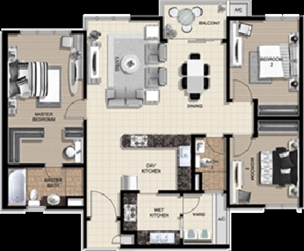 The Vyne Type C Floor Plan