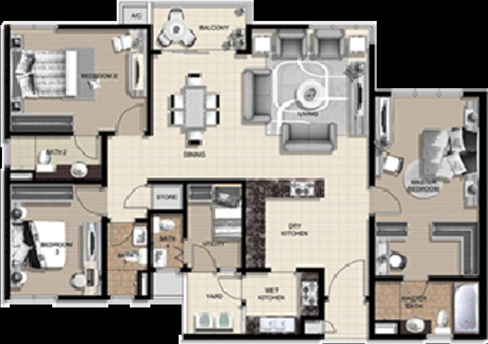 The Vyne Type D Floor Plan