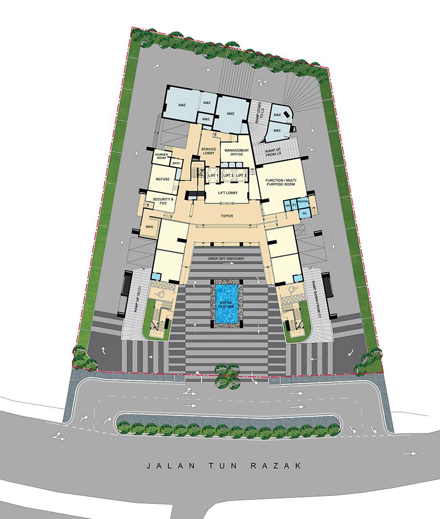 Site Plan of Three28 Tun Razak