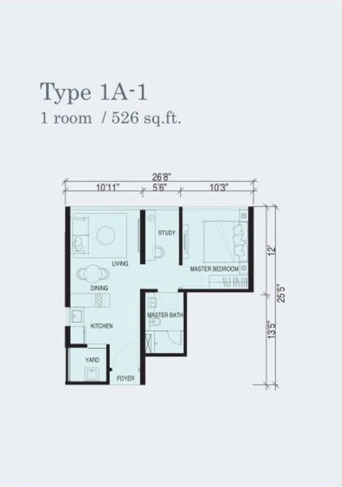 Marina Cove Type 1A-1 Floor Plan