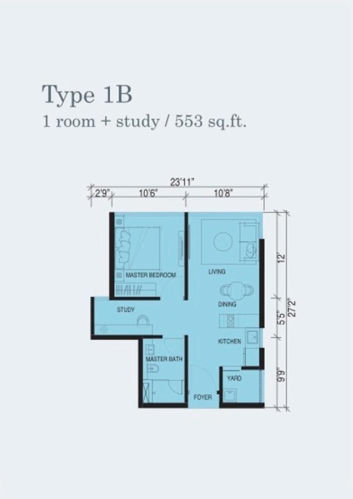 Marina Cove Type 1B Floor Plan
