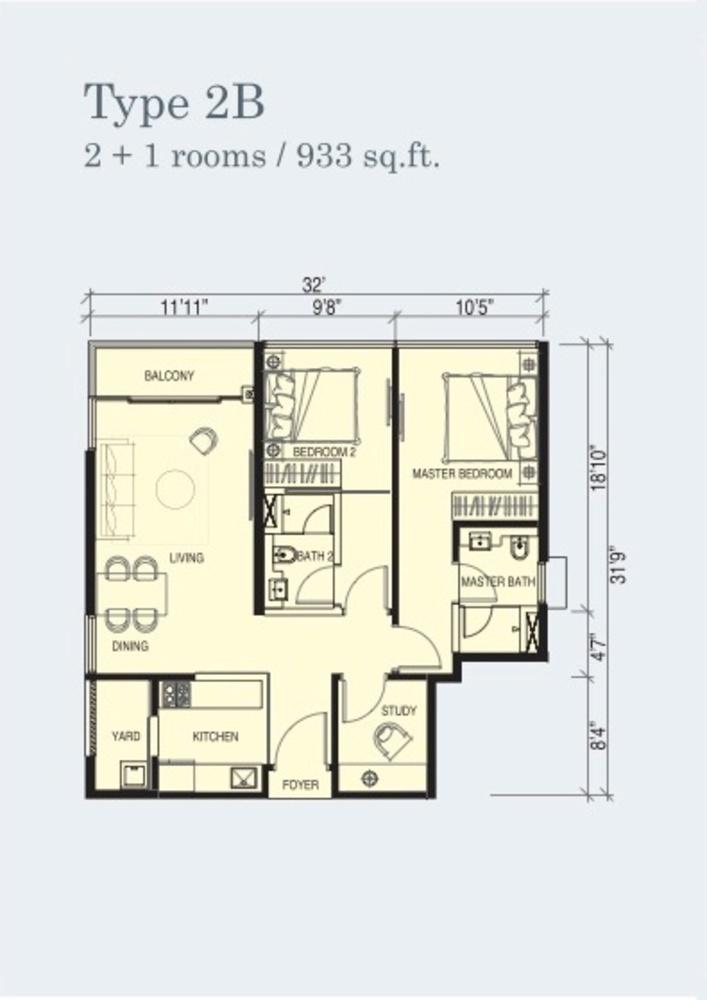 Marina Cove Type 2B Floor Plan