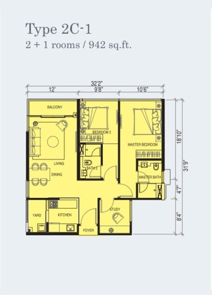 Marina Cove Type 2C-1 Floor Plan