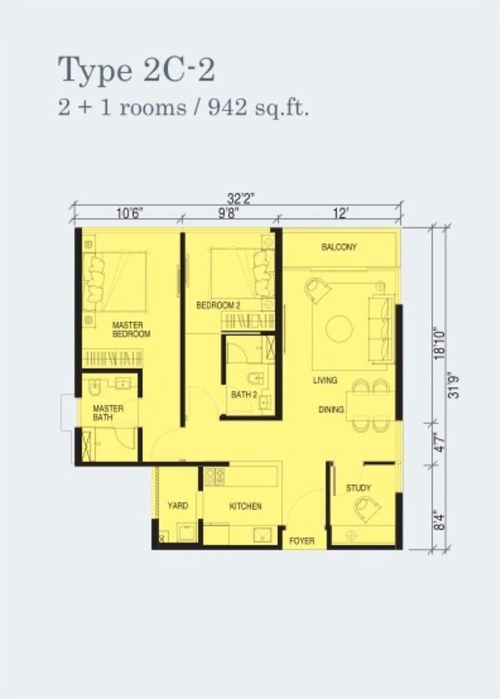 Marina Cove Type 2C-2 Floor Plan