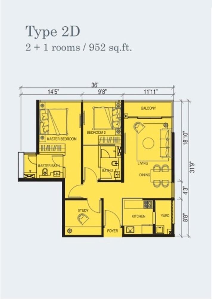 Marina Cove Type 2D Floor Plan