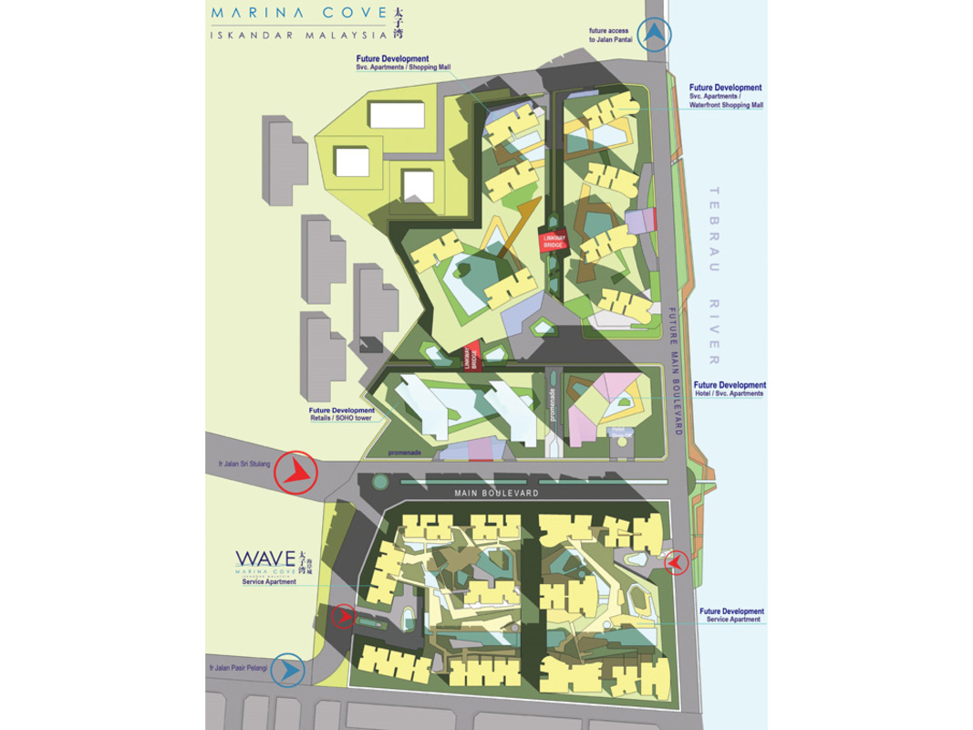 Master Plan of Marina Cove