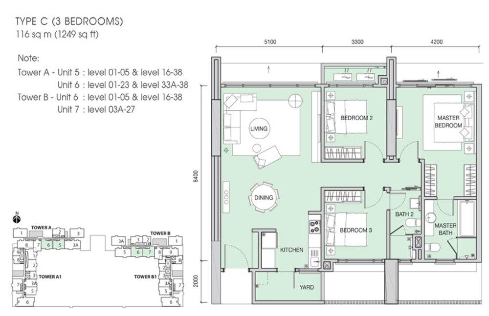 Iskandar Residences Type C Floor Plan