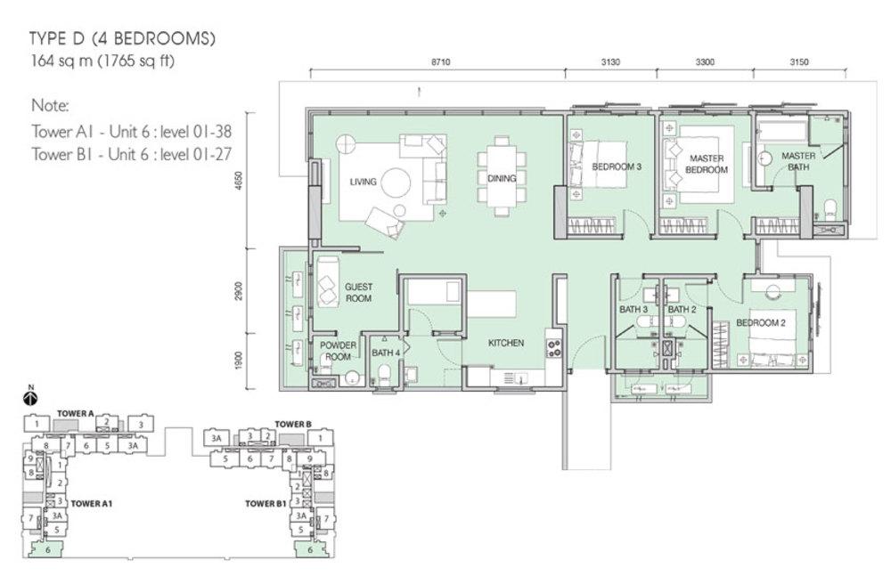 Iskandar Residences Type D Floor Plan