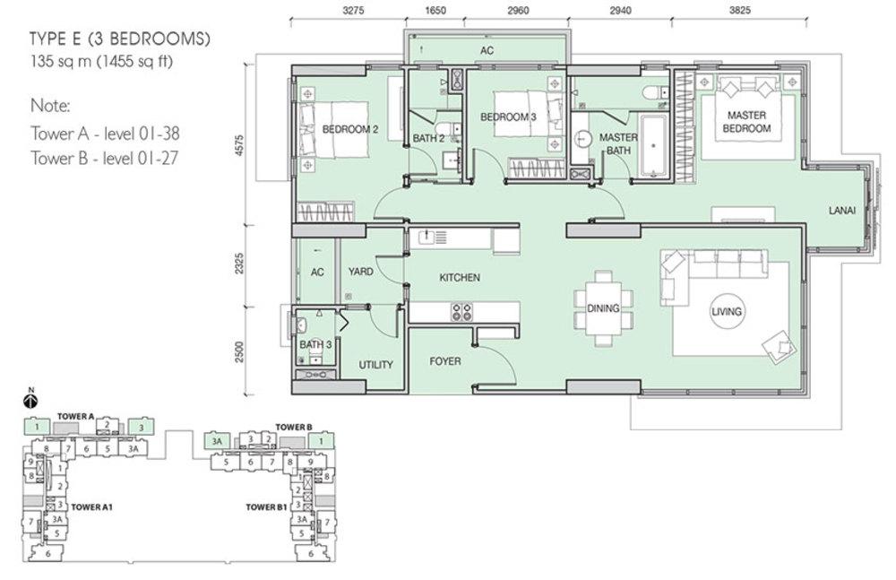 Iskandar Residences Type E Floor Plan