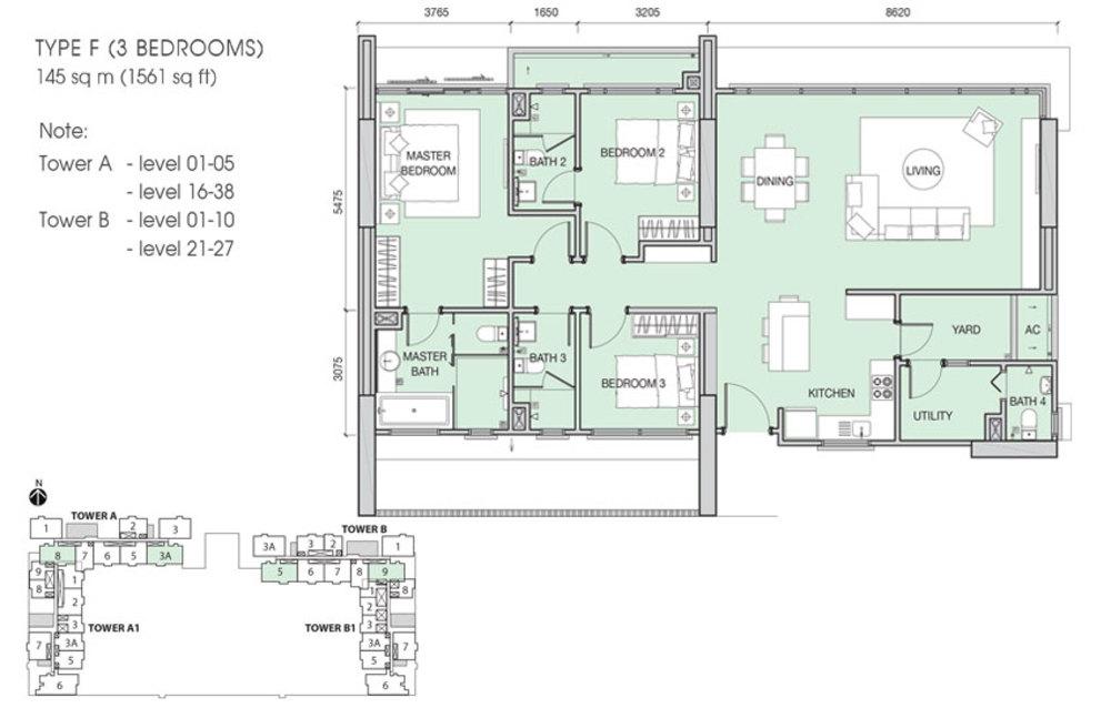Iskandar Residences Type F Floor Plan