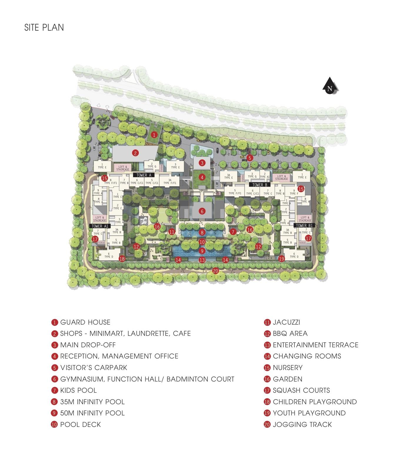 Site Plan of Iskandar Residences