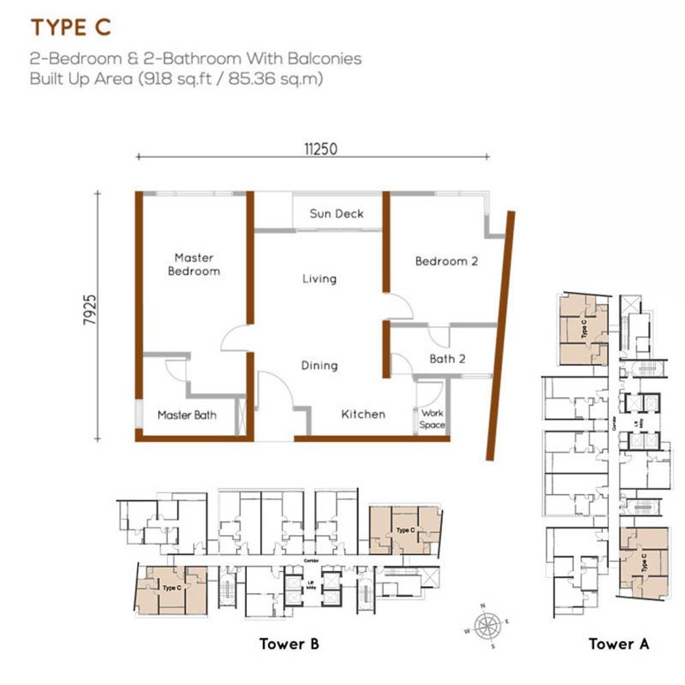 Woodsbury Suites Type C Floor Plan