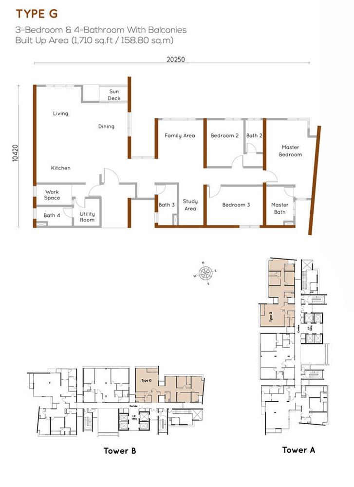 Woodsbury Suites Type G Floor Plan