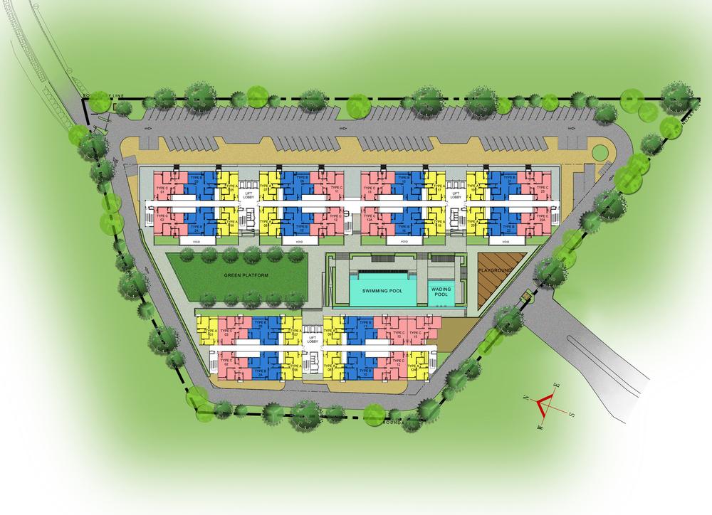 Site Plan of V-Residensi 2