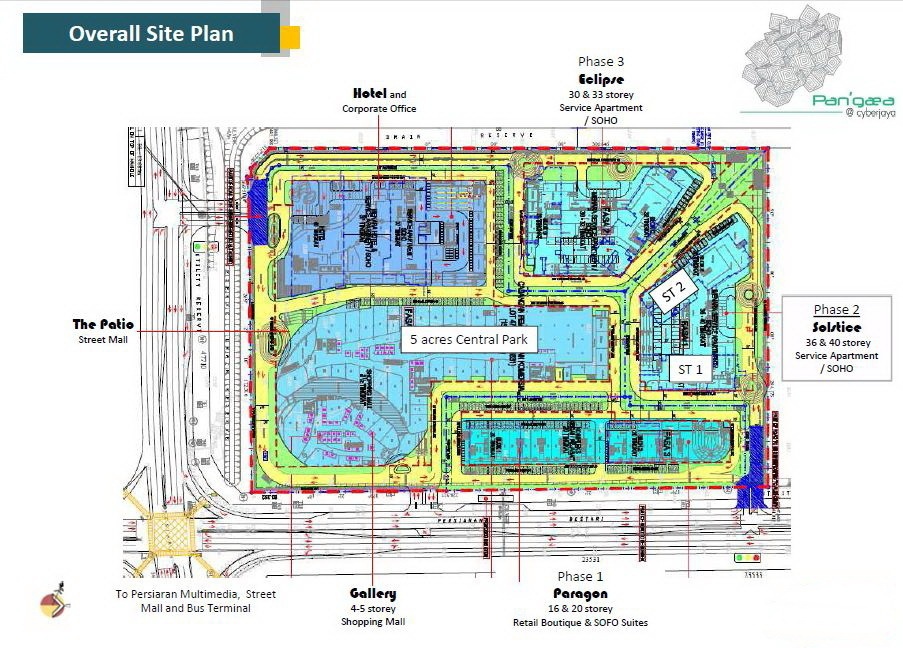 Site Plan of Eclipse Residence @ Pan'gaea