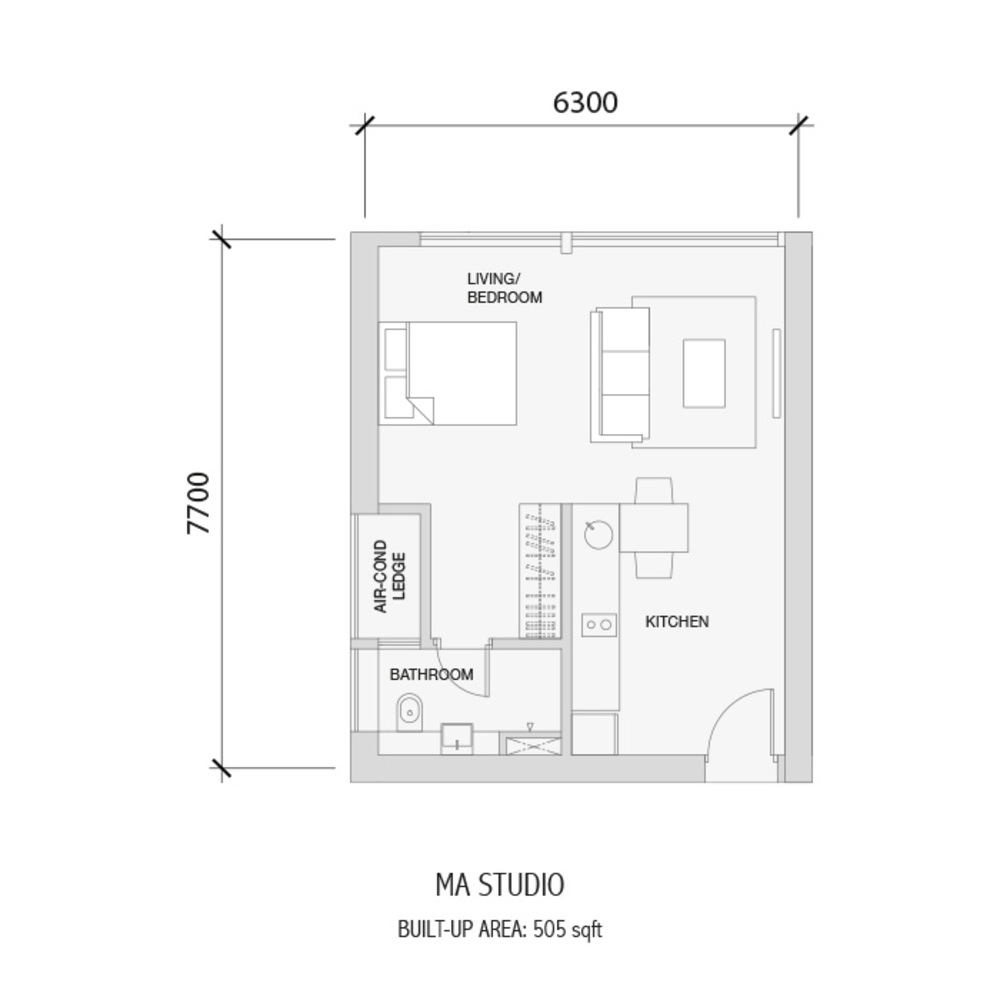 Setia Sky 88 MA Studio Floor Plan