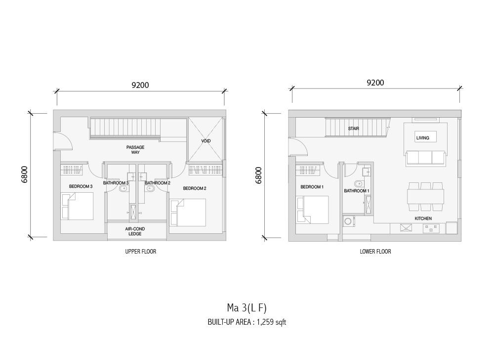 Setia Sky 88 MA 3(LF) Floor Plan