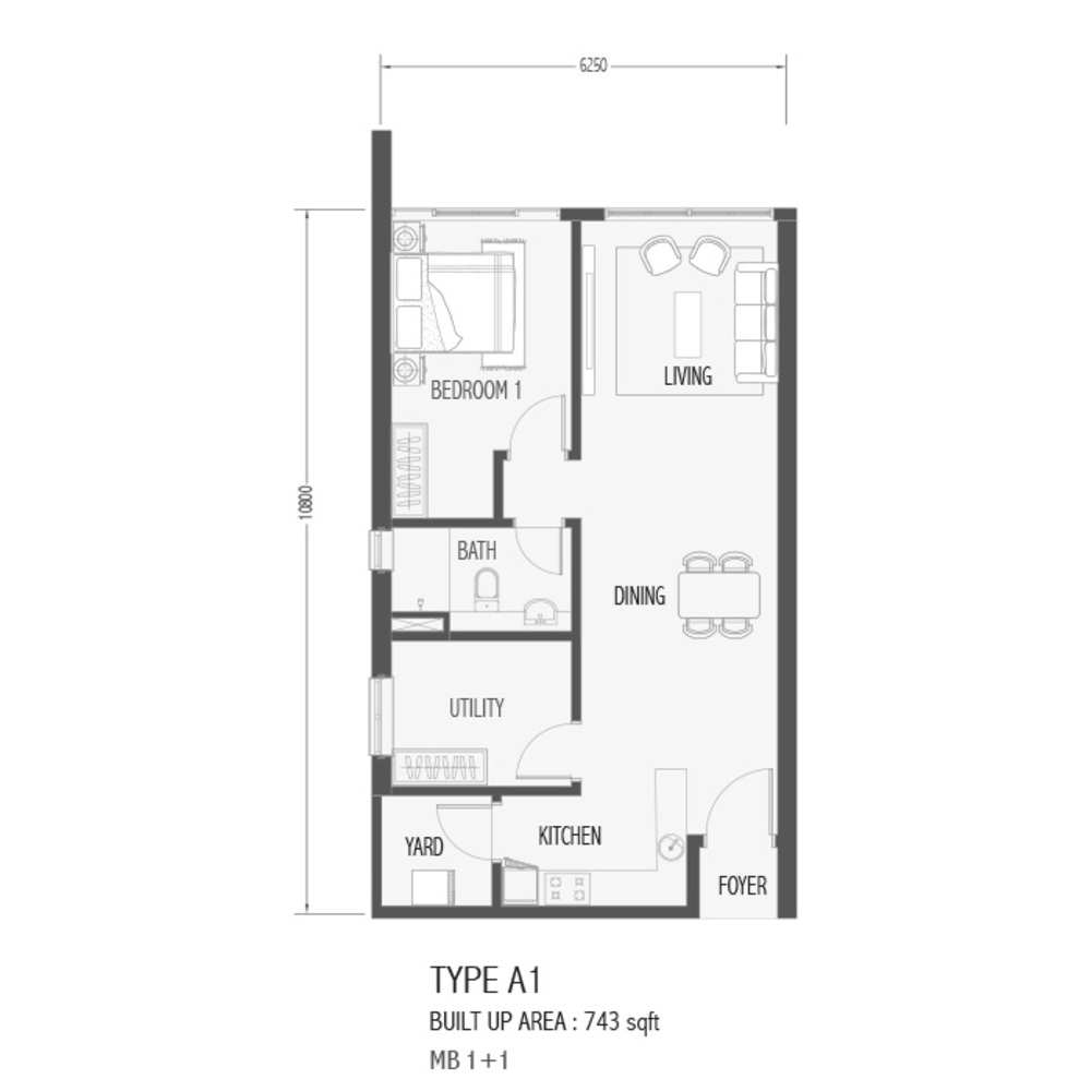 Setia Sky 88 Type A1 - Sora Floor Plan