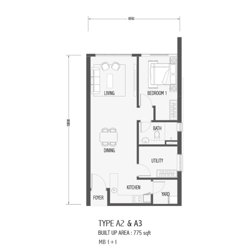 Setia Sky 88 Type A2 & A3 - Sora Floor Plan
