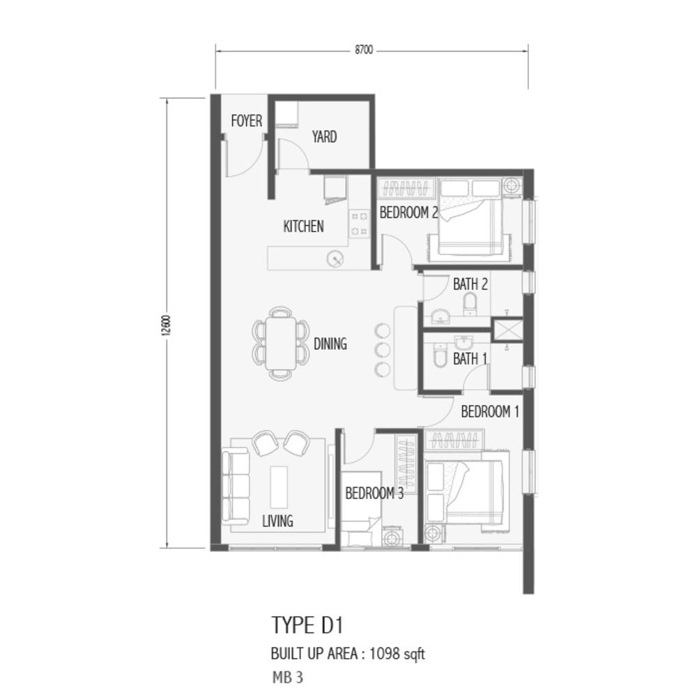 Setia Sky 88 Type D1 - Sora Floor Plan