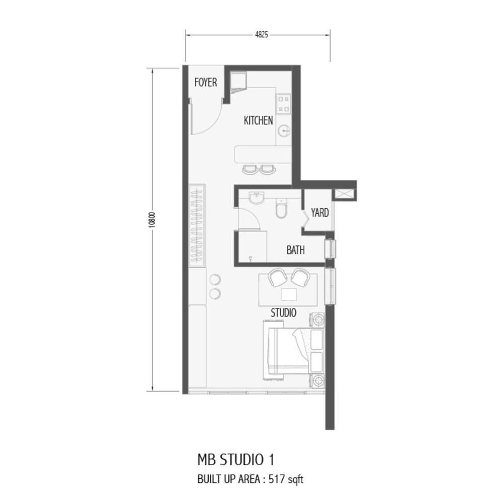 Setia Sky 88 MB Studio 1 Floor Plan