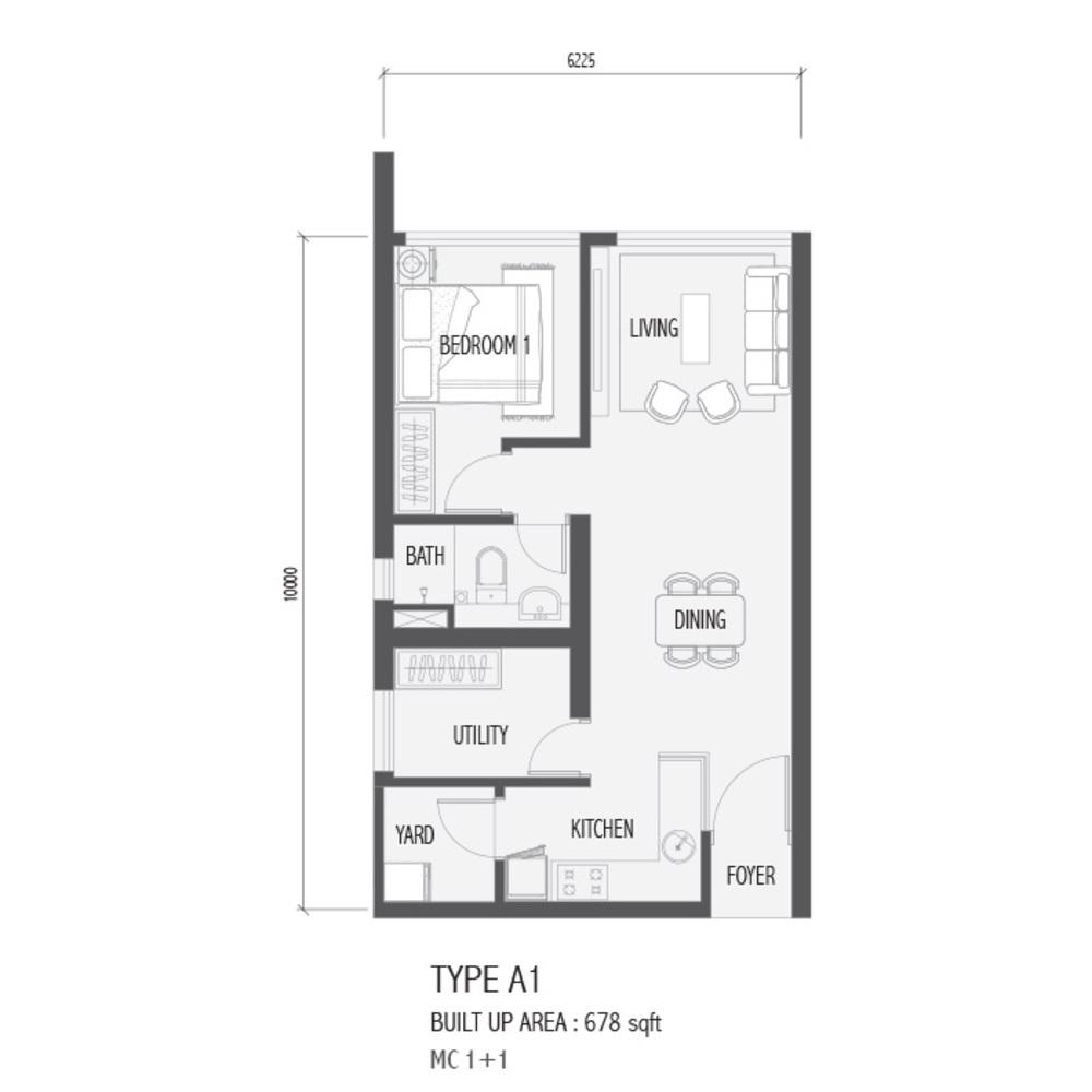 Setia Sky 88 Type A1 - Nube Floor Plan