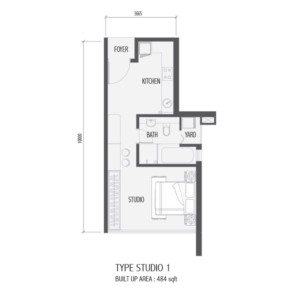 Setia Sky 88 Studio 1 Floor Plan