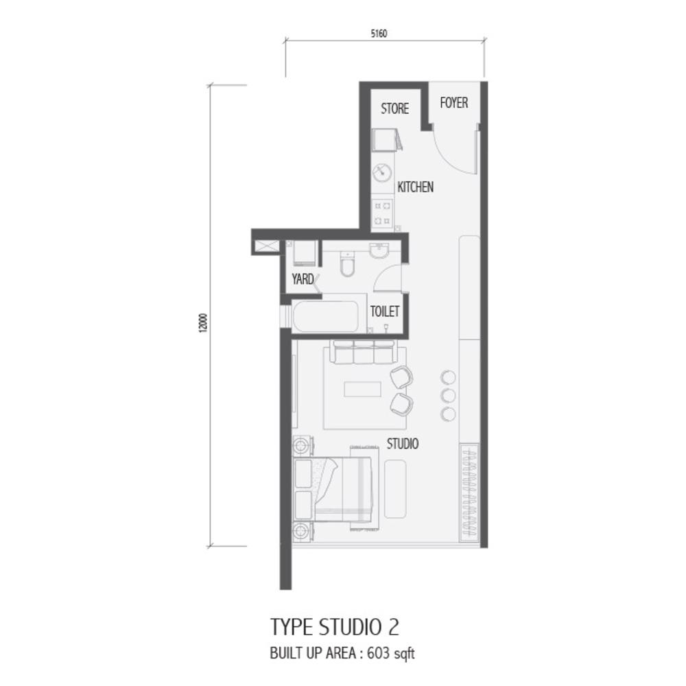 Setia Sky 88 Studio 2 Floor Plan