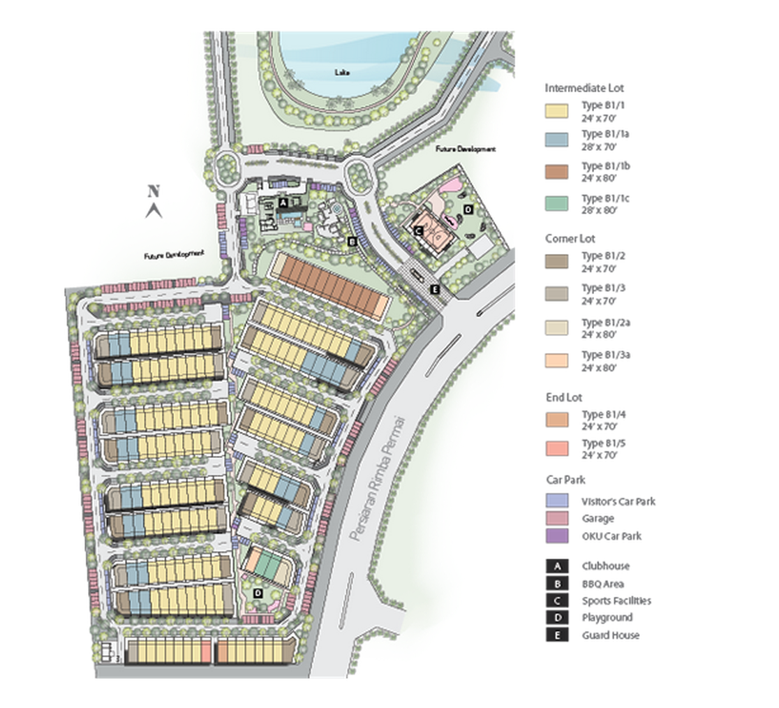 Site Plan of Areca Contempo Homes