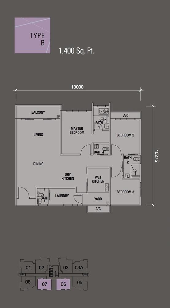 Puteri Hills Type B Floor Plan