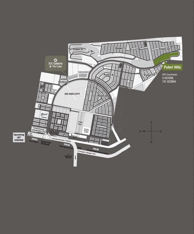 Master Plan of Puteri Hills