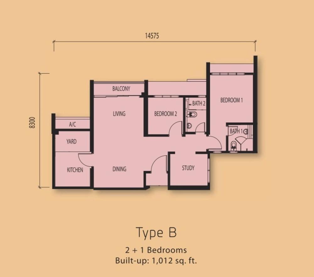 The Clio Residences Type B Floor Plan