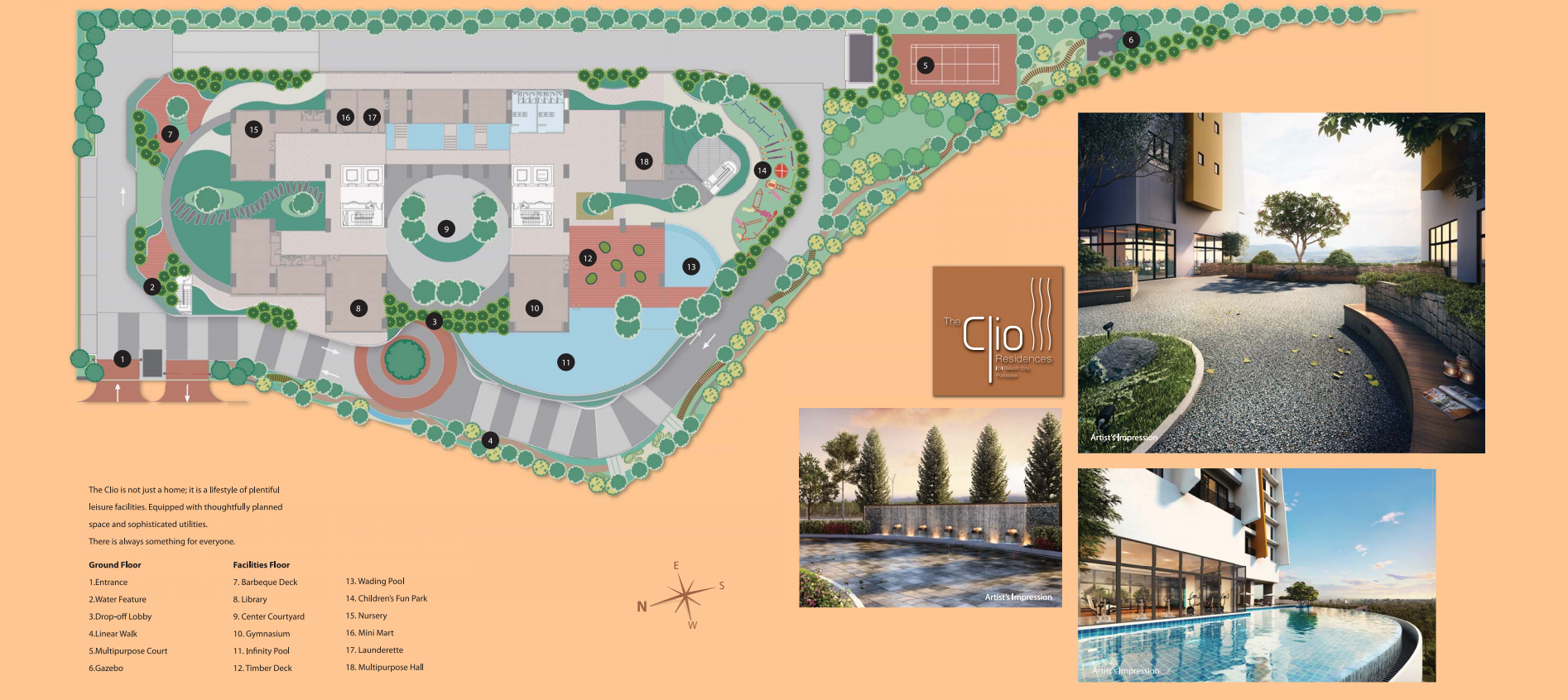 Site Plan of The Clio Residences