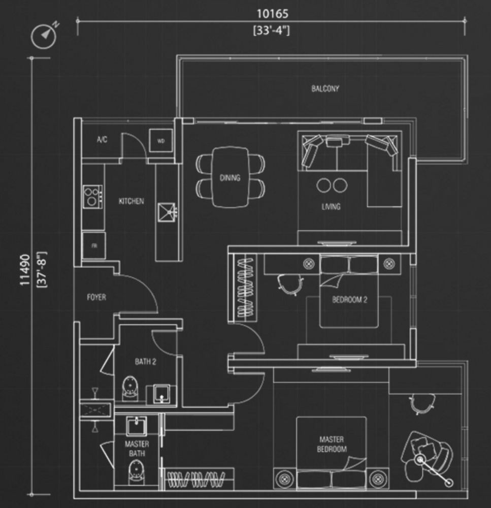 Nadi Bangsar Type E1 Floor Plan