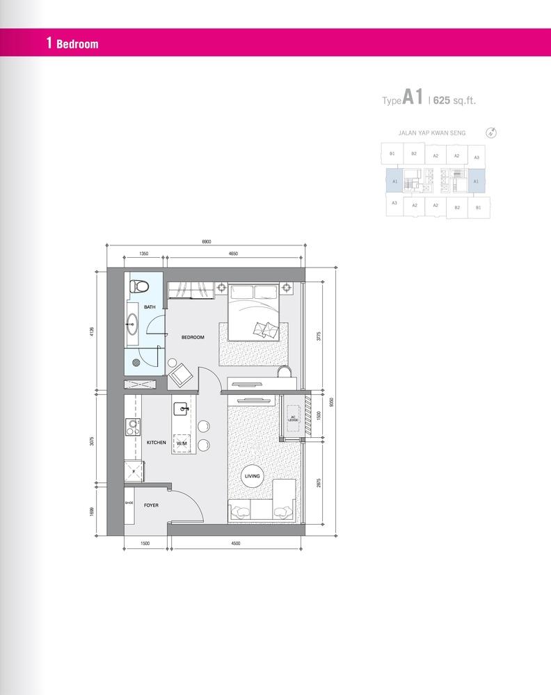 Star Residences Star Residences 1 - Type A1 Floor Plan
