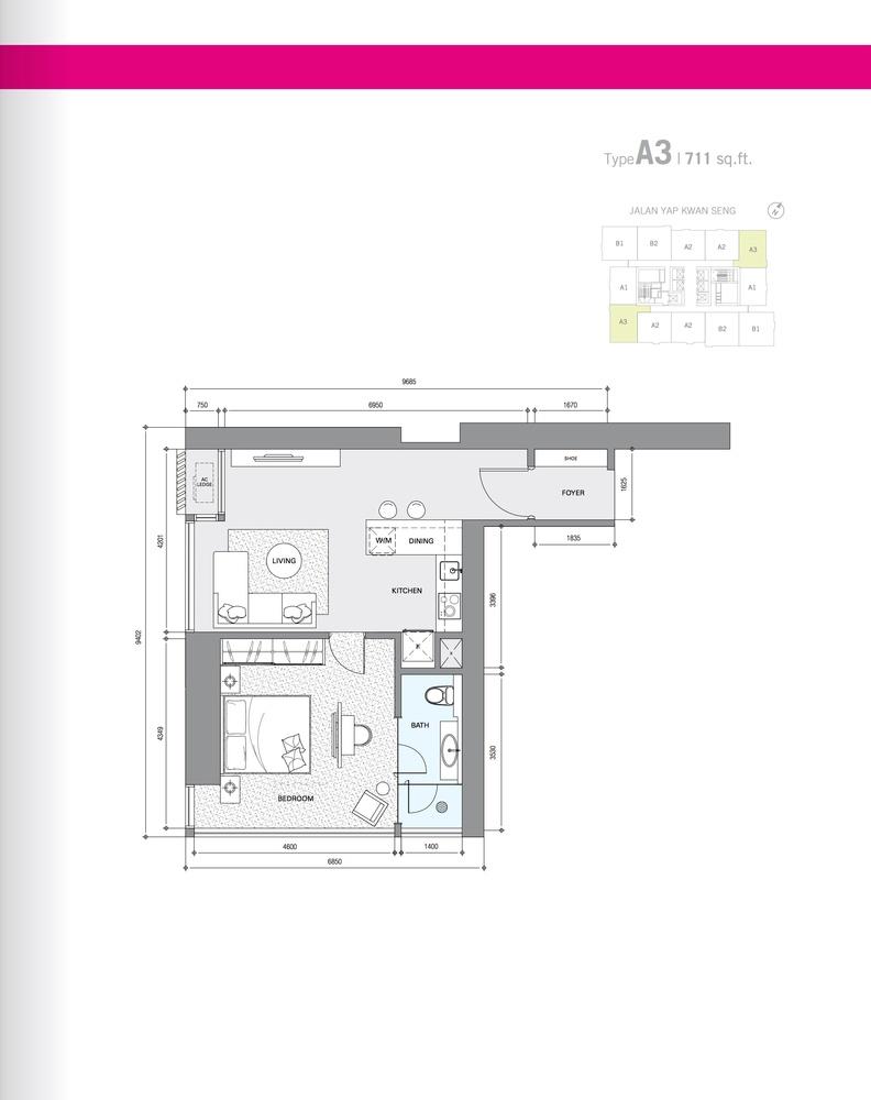 Star Residences Star Residences 1 - Type A3 Floor Plan