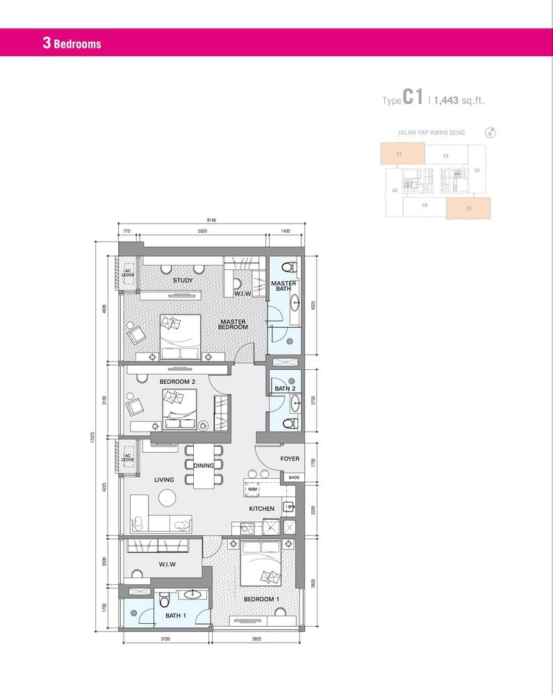 Star Residences Star Residences 1 - Type C1 Floor Plan