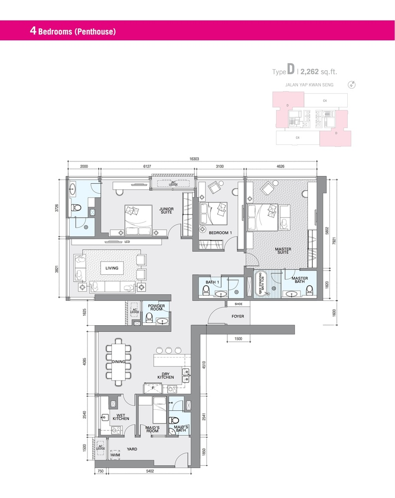 Star Residences Star Residences 1 - Type D Floor Plan