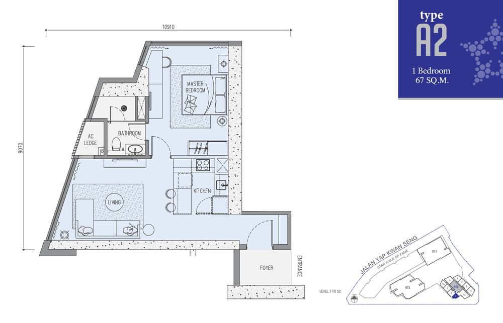 Star Residences Star Residences 2 - Type A2 Floor Plan