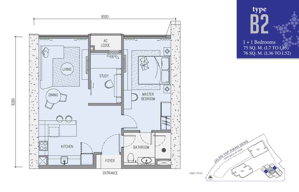 Star Residences Star Residences 2 - Type B2 Floor Plan