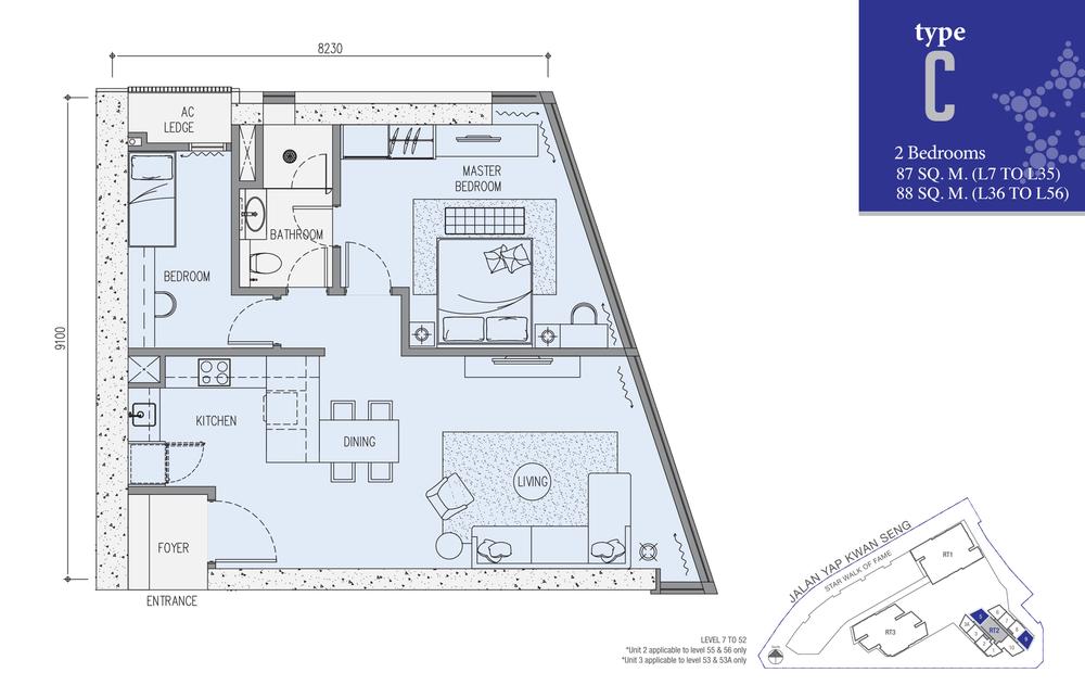 Star Residences Star Residences 2 - Type C Floor Plan