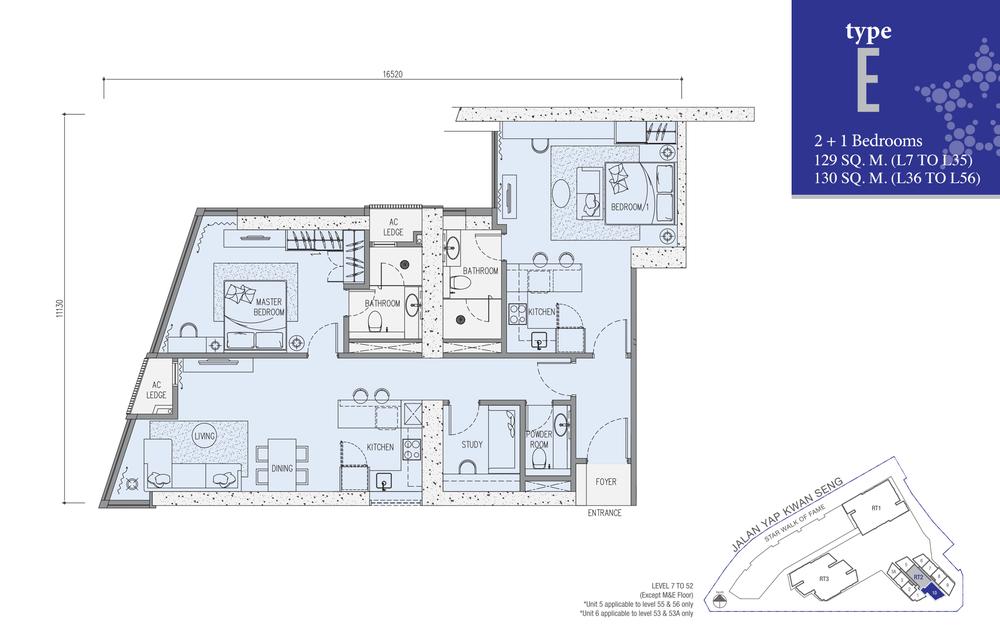 Star Residences Star Residences 2 - Type E Floor Plan