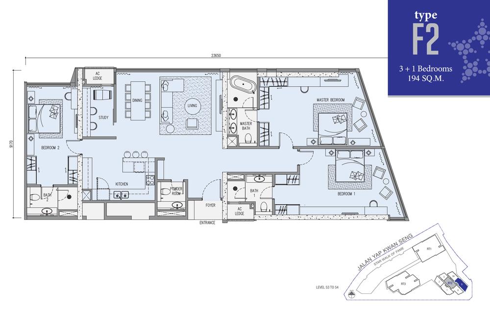 Star Residences Star Residences 2 - Type F2 Floor Plan