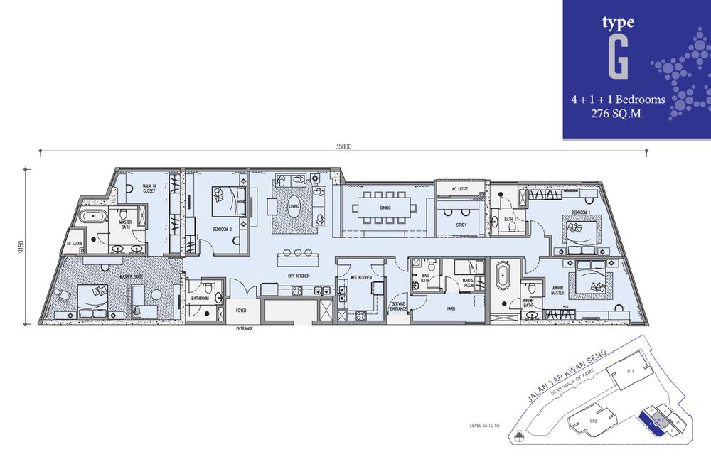 Star Residences Star Residences 2 - Type G Floor Plan