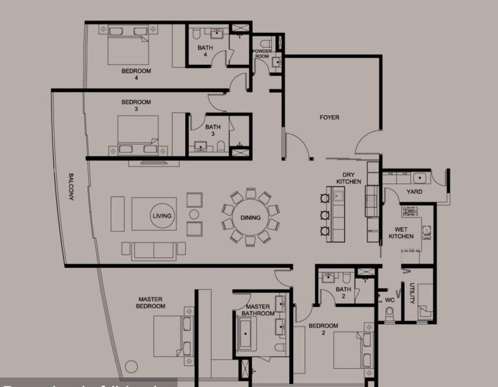 DC Residency Type PH2B Floor Plan
