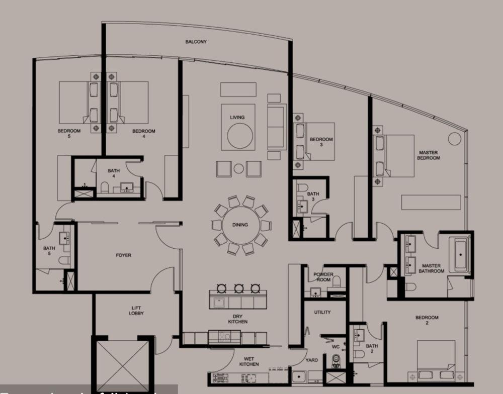 DC Residency Type PH6 Floor Plan