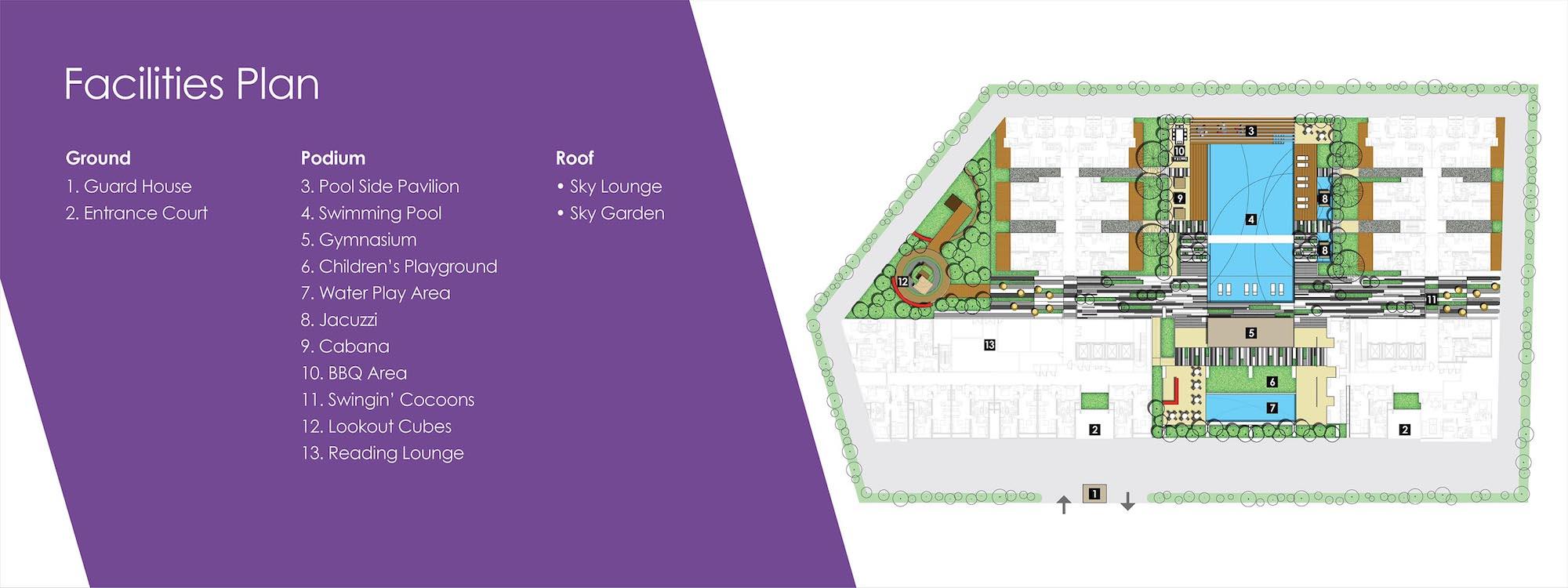 Site Plan of Urbana Residences @ Ara Damansara