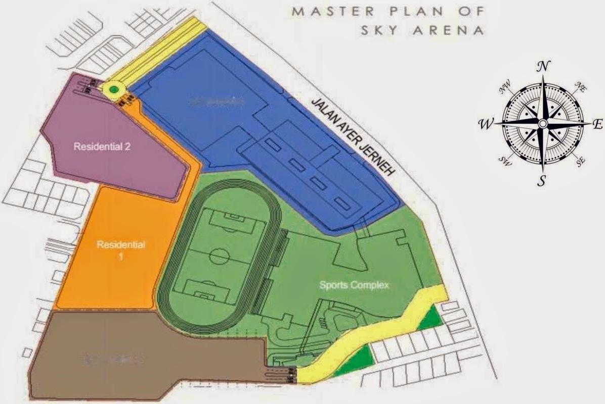 Master Plan of Ascenda Residence @ SkyArena